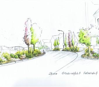 Ortsdurchfahrt Auersbach Skizze